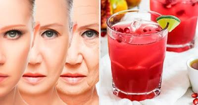 Jus antioxydant et rajeunissant