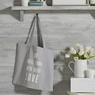 The White Company Do Small Things Grey Heart Shopper