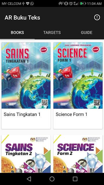 Tutorial Guna AR Pada Buku Teks Sains