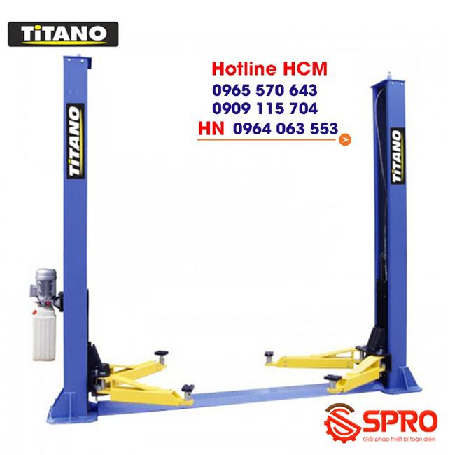 Cầu nâng 2 trụ đế dưới, cóc giật 2 bên Titano TB-4000D
