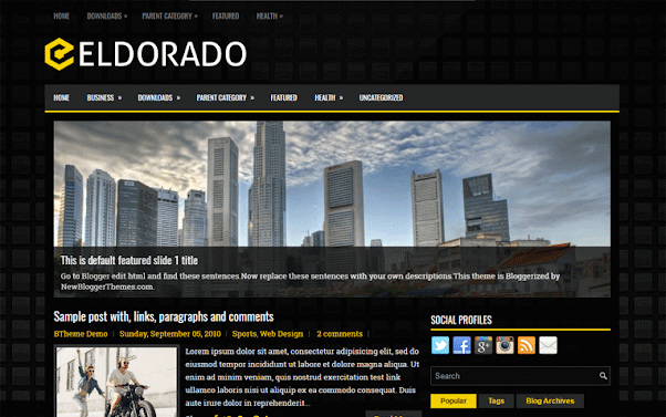 Eldorado Free Blogger Template