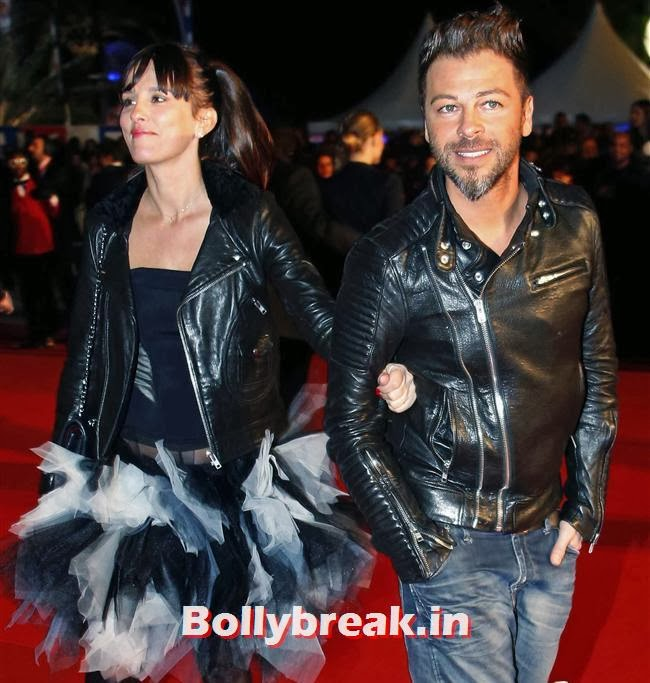 Christophe Mae and his wife Nadege, International Singers at NRJ Music Awards 2013
