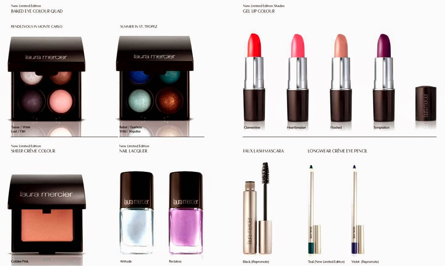 Laura Mercier Summer 2014 New Attitude Colour Story, Laura Mercier, Summer 2014 makeup trend, New Attitude, Colour Story, makeup, makeup collection
