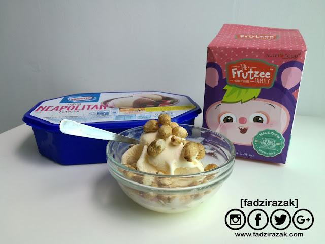 Resepi Snek Mudah Untuk kanak-kanak - Frutzee Grape Ice Cream