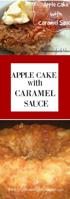 Apple Cake Recipe with Caramel Sauce