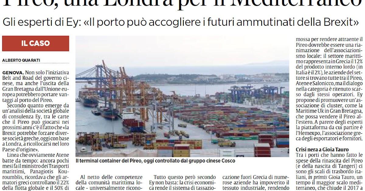 Alassiofutura genova porto del pireo grecia una for Diretta da montecitorio