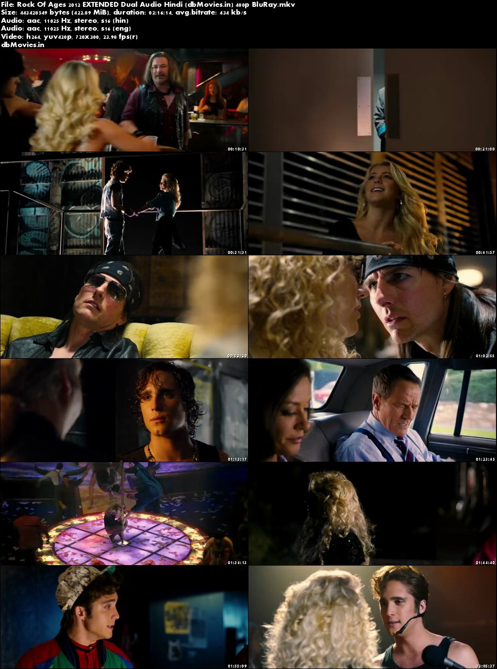 Poster Rock Of Ages 2012 Full Movie Download Dual Audio Hindi Free 300Mb