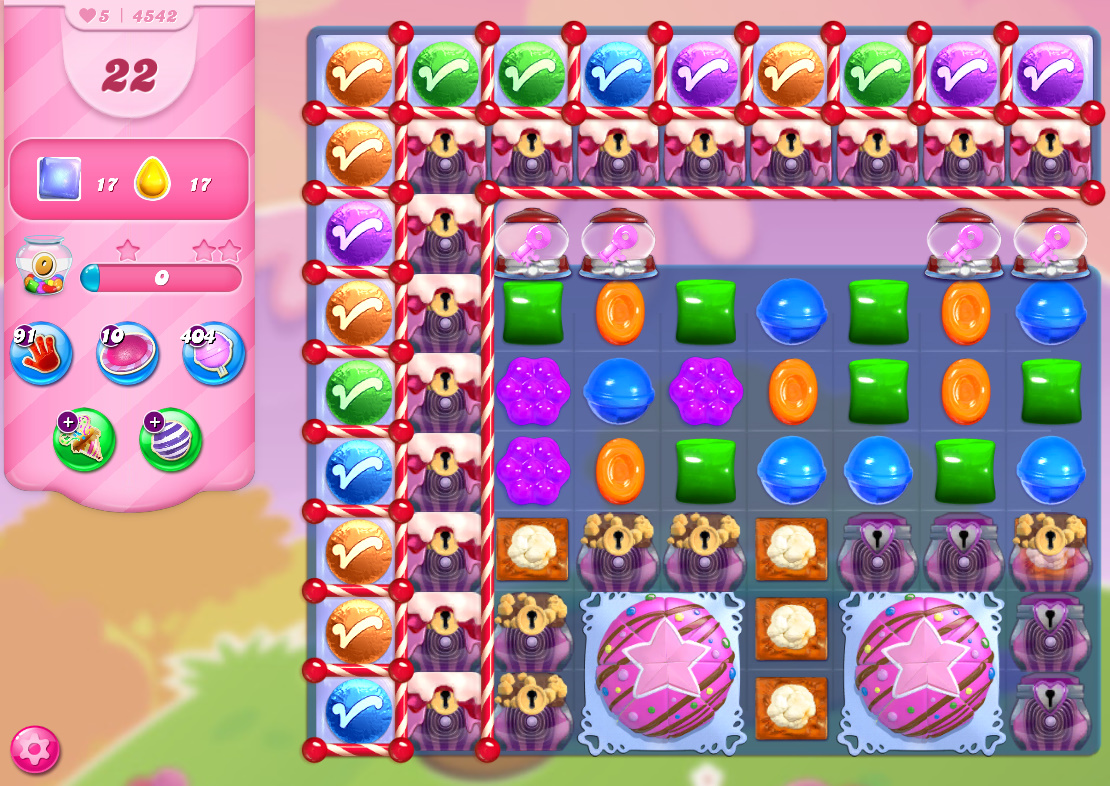 Candy Crush Saga level 4542