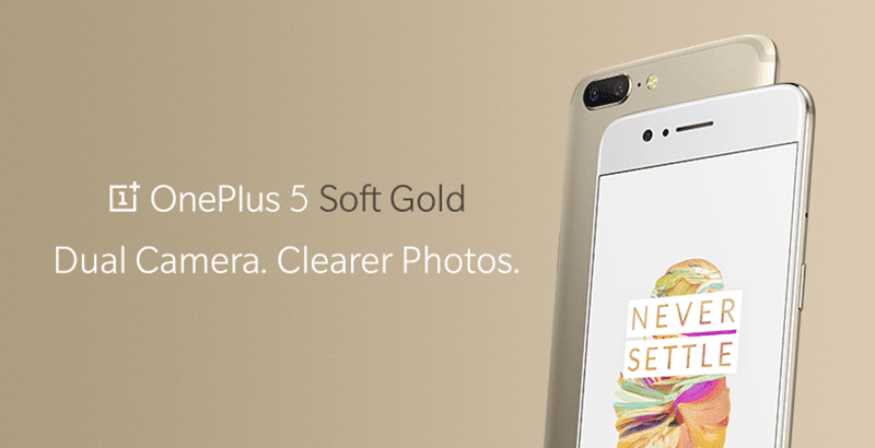 OnePlus 5 Limited Edition Soft Gold