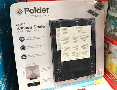 Costco 1183826 - Polder Digital Kitchen Scale with Pull Out Display: great for any home cook's arsenal