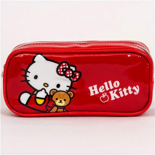 pencil box parade red hello kitty pencil case