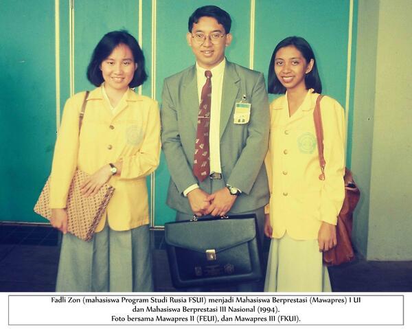 "Kisah Tentang ""Si Anak Pintar"" Fadli Dzon pada Tahun 1988"