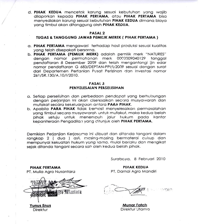 Surat Perjanjian Adalah Surat Yang Mengatur Tentang Hak Dan
