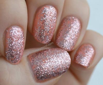 bling, glitter nails, notd