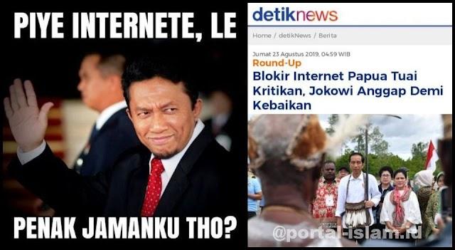 Internet Papua Diblokir, Viral Meme Tifatul Penak Jamanku Tho?