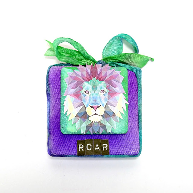 Roar Lion Mini Canvas by Dana Tatar for Tando Creative