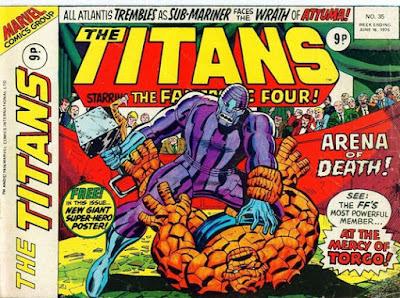 Marvel UK, The Titans #35, Thing vs Torgo