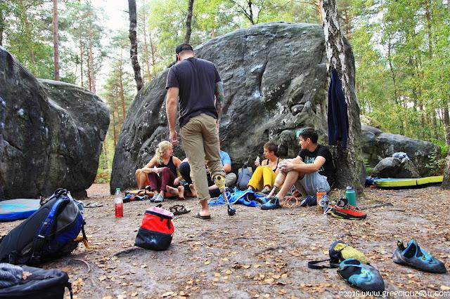 Ils étaient une trentaine de grimpeurs pas tout à fait comme les autres à visiter notre forêt pendant 4 jours