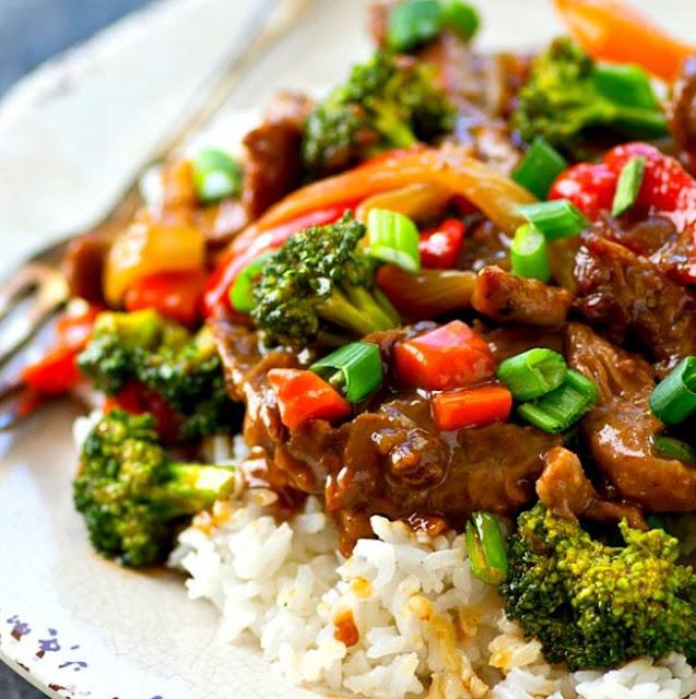 Teriyaki Beef Stir Fry #beef #dinner