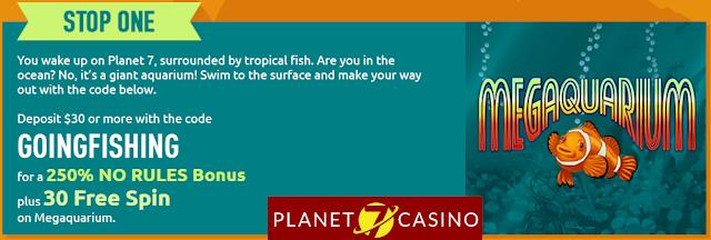 Planet7 Casino Bonus Offers April 2017
