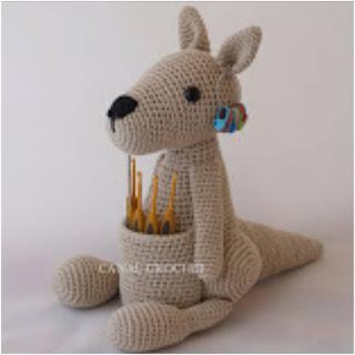 patron amigurumi Canguro canal crochet