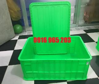 Cung cấp sọt nhựa bít có nắp đậy 2T5