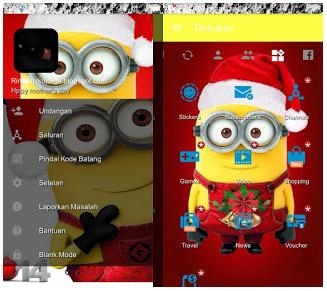 BBM MOD Minnion Special Natal versi 3.2.0.6 Apk