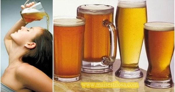 como usar cerveja no cabelo