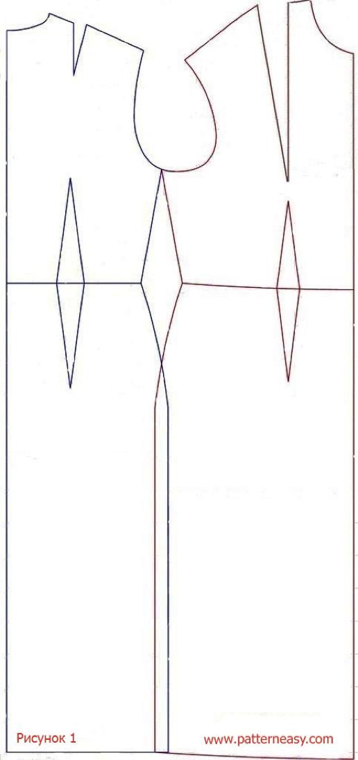 Paso a paso de modificación de patrón vestido asimétrico