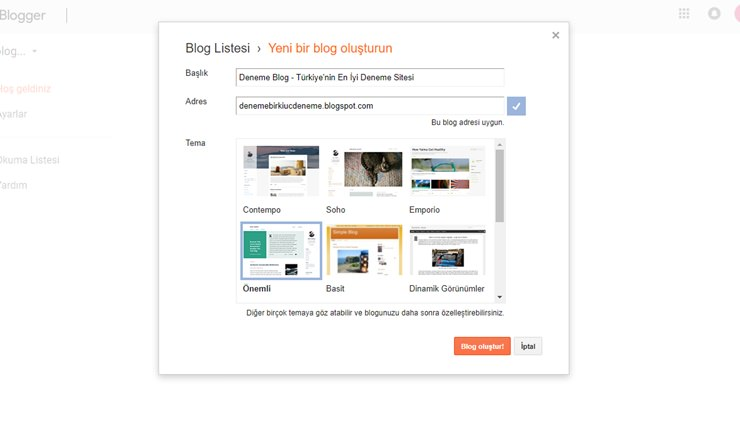 3- blogger ücretsiz