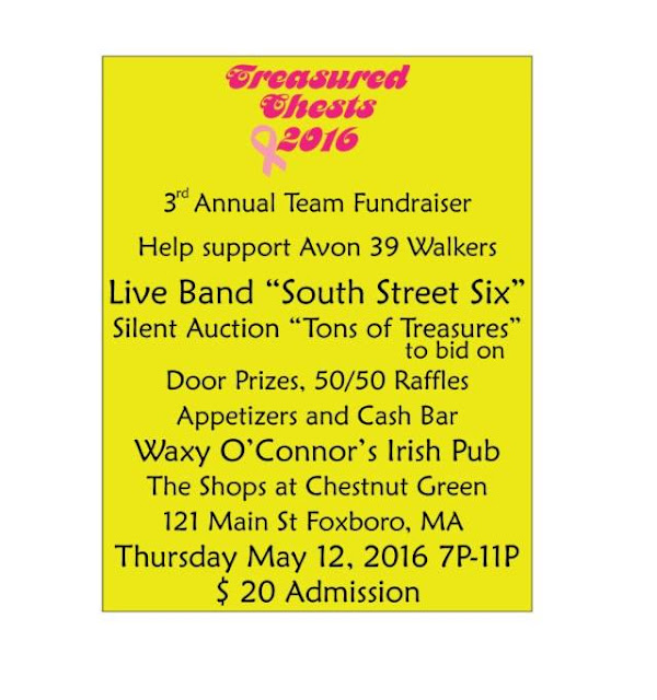 3rd Annual Fundraiser - The Treasured Chests Avon Walking Team