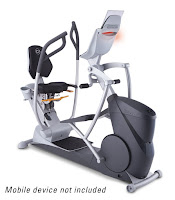 Octane Fitness xR6xi Recumbent Elliptical, with Power Stroke technology, 20 resistance levels, 9 built-in programs, 3 workout boosters, SmartLink compatible, multi-grip handlebars, adjustable seat