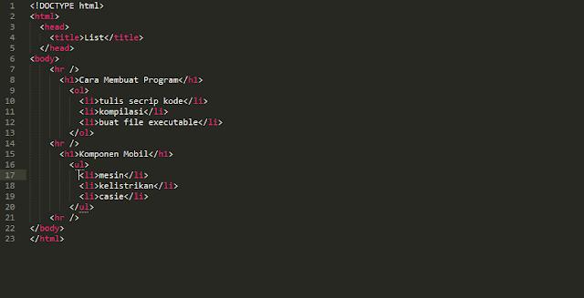 coding list
