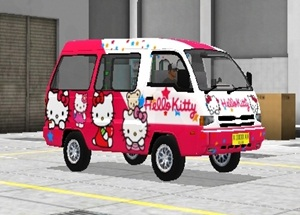 Livery Angkot Bussid Hello Kitty