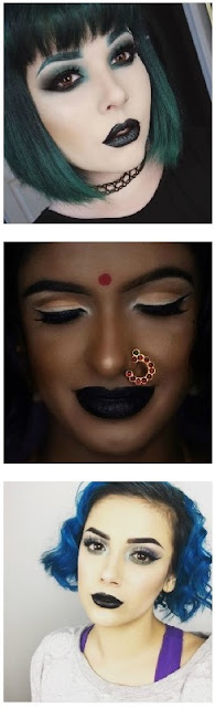 38 Ways to Wear Black Lipstick Makeup Instagram beauty blogger black lips