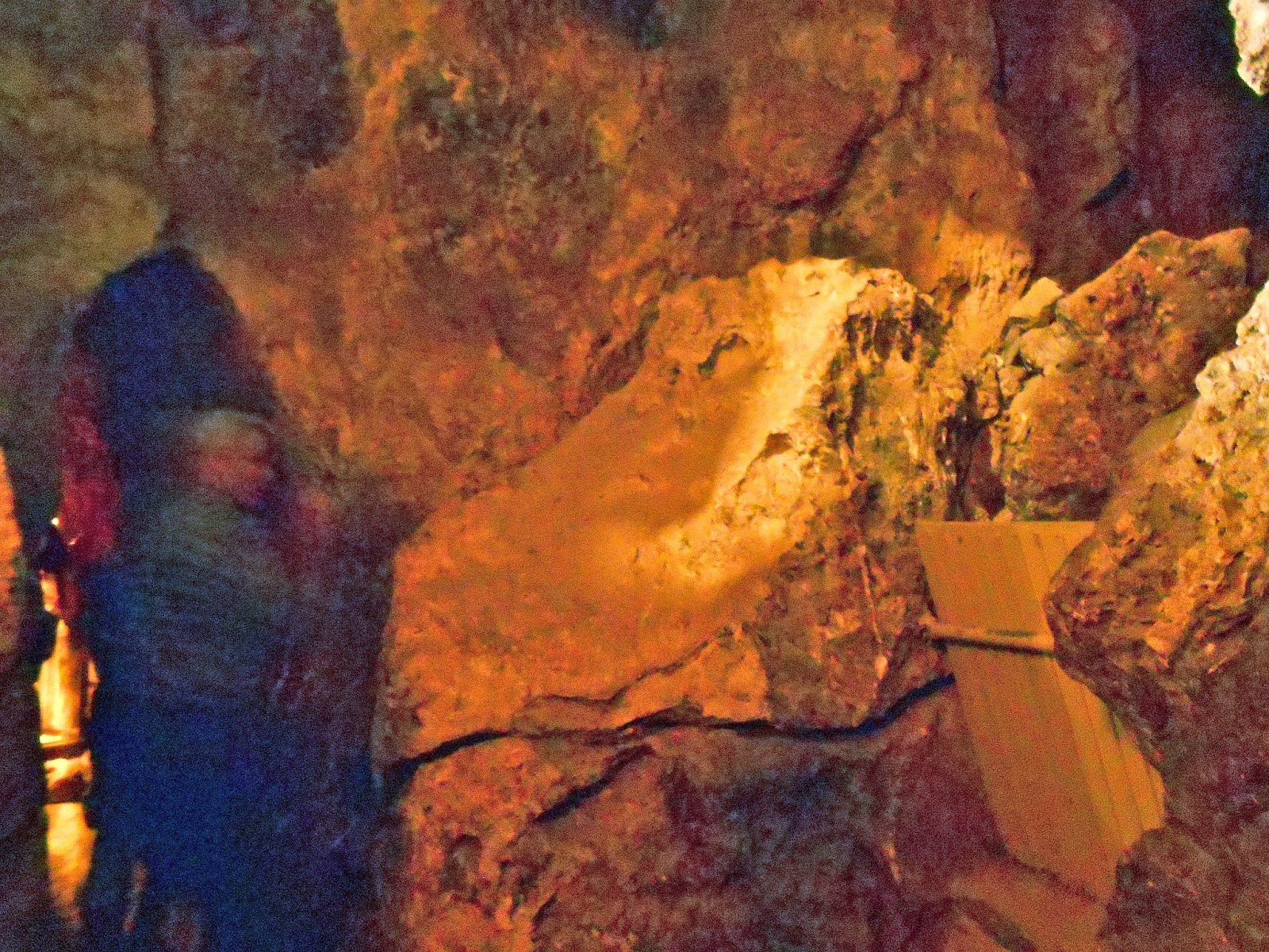 t-rex rock in colossal cave tucson arizona