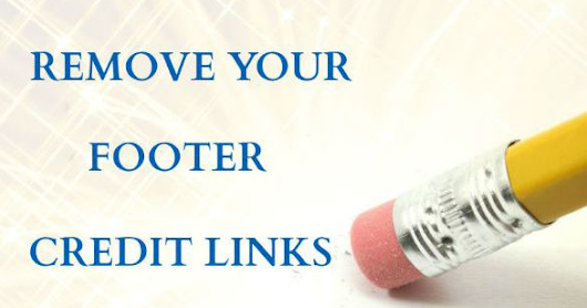 Remove Or Hide Footer Link From Blogger Templates