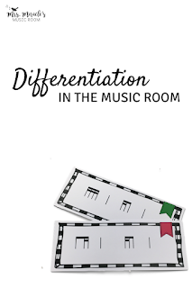 Differentiation in the music room: Lesson plan strategies for differentiating for your music lessons!