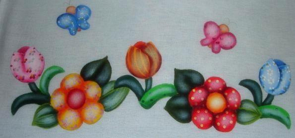 pintura em tecido country folk art passo a passo luz seca