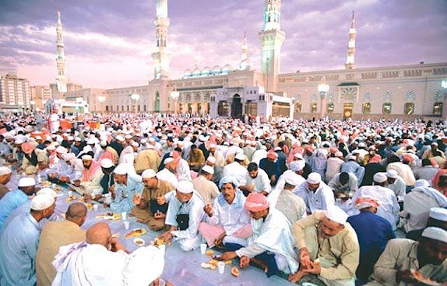 buka bersama di masjid