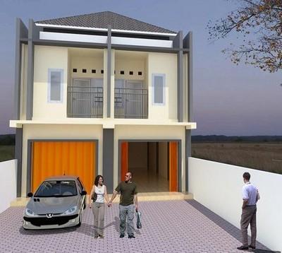 denah rumah minimalis 2 lantai sederhana lengkap