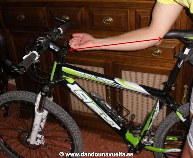 Forma rápida de comprobar si la bicicleta es de nuestra talla