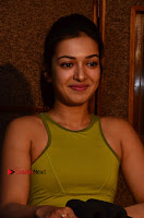 Actress Catherine Tresa Pos during Self Dubbing for Gautham Nanda Movie  0068.JPG