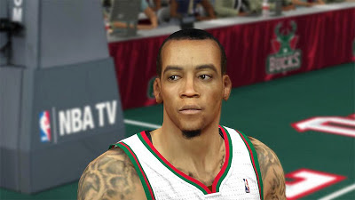 NBA 2K13 Monta Ellis Cyberface NBA2K Patch