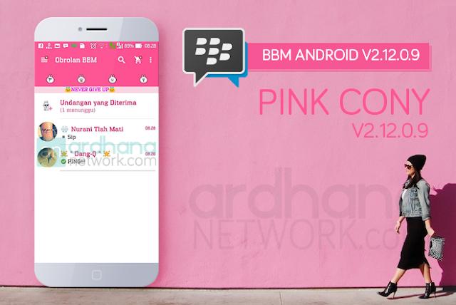 BBM Pink Cony V2.12.0.11 - BBM Android V2.12.0.11
