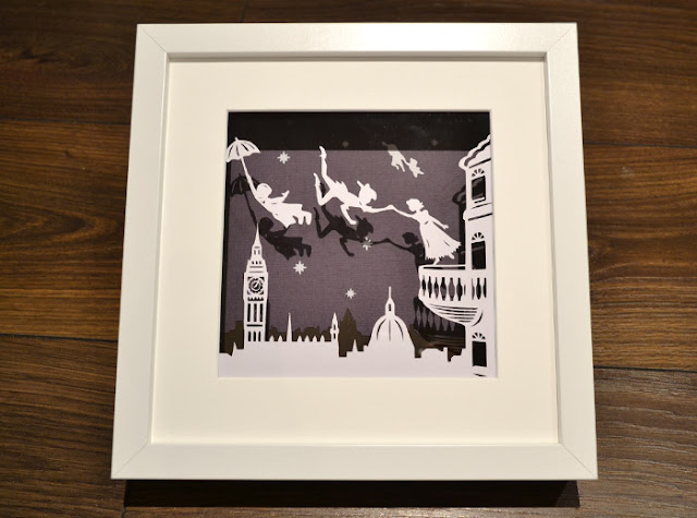 Peter Pan Papercut, flight to Neverland