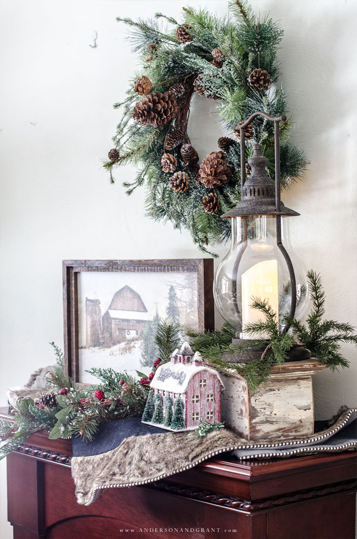 Rustic Christmas Vignette