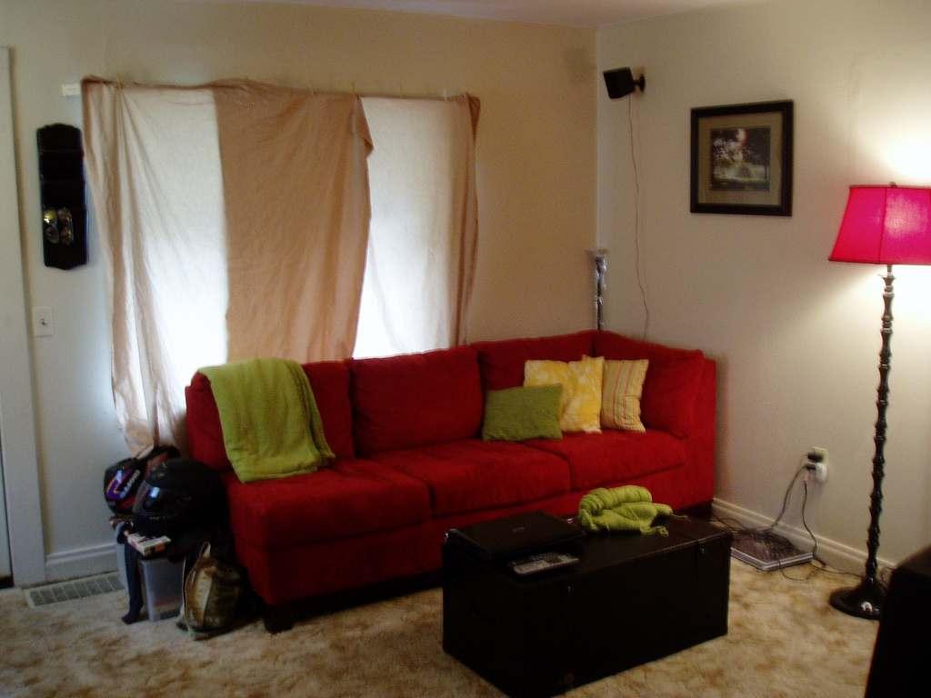 Sofa Vermelho Que Cor Pintar A Parede Vamos Decorao Cinza E  -> Papel De Parede Para Sala Com Sofa Vermelho