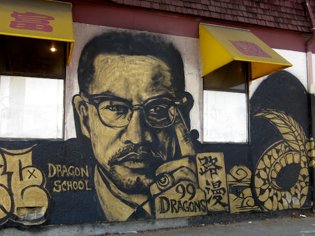 Oakland daily photo monday mural malcolm x for Malcolm x mural