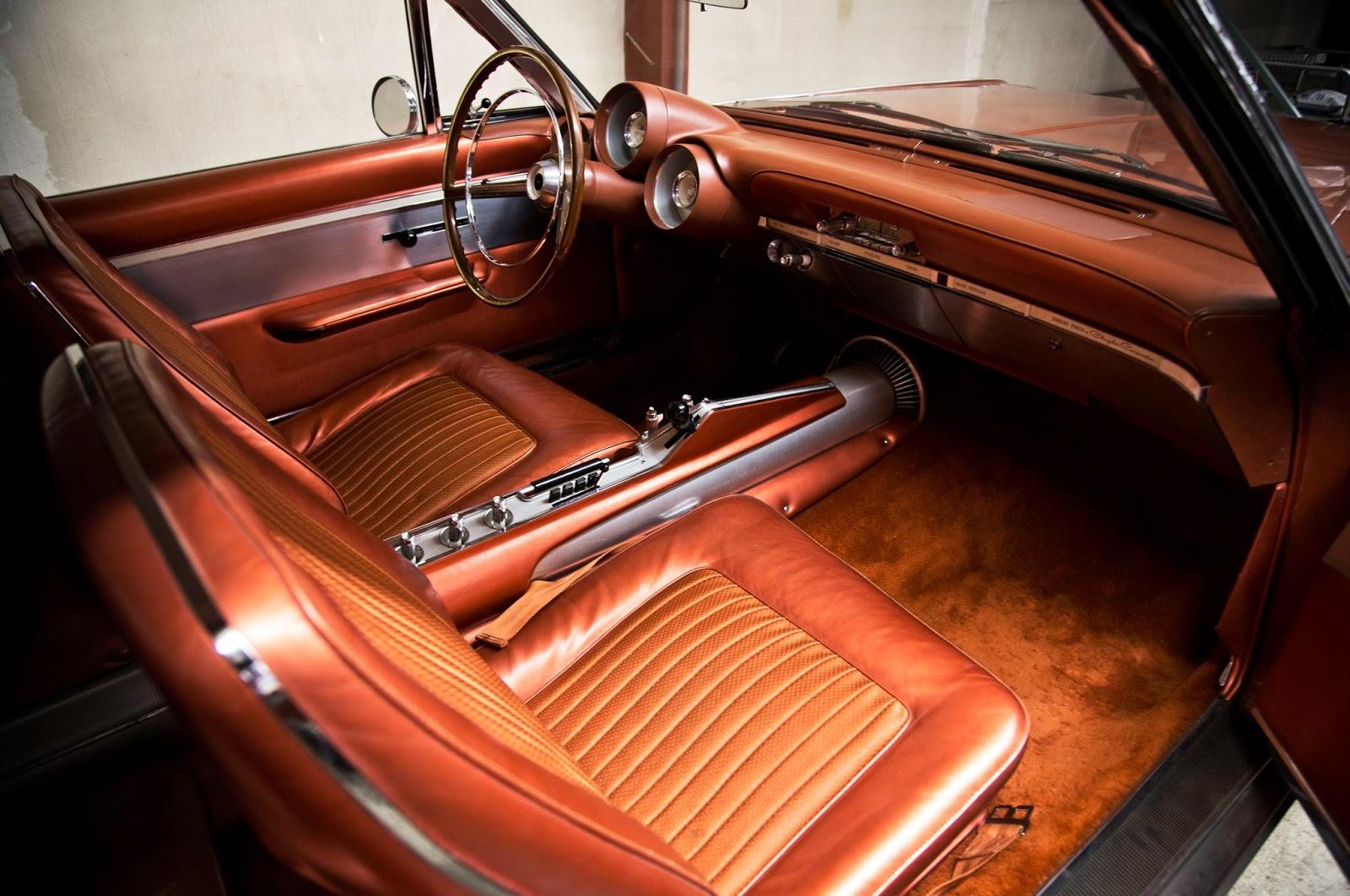 Just A Car Guy The Interior Of The 1964 Chrysler Turbine Car